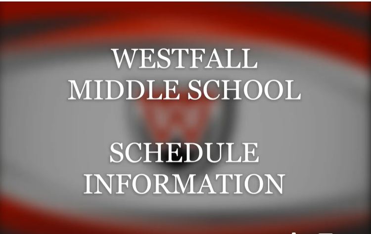 Middle School Schedule Information