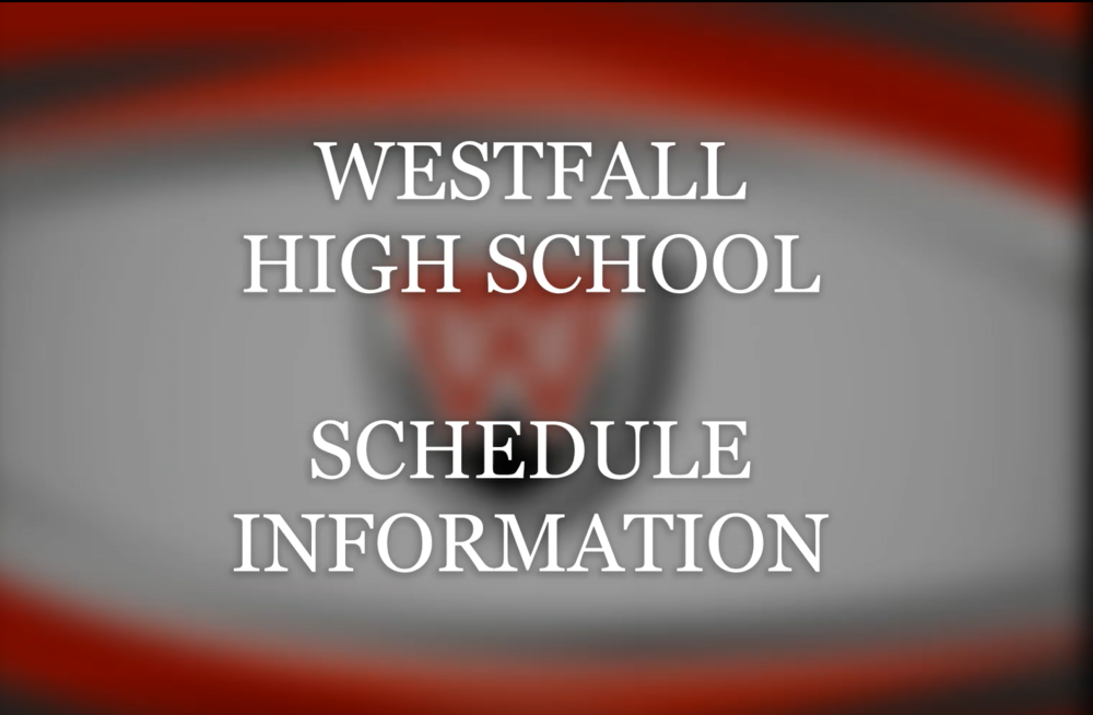 High School Schedule Information