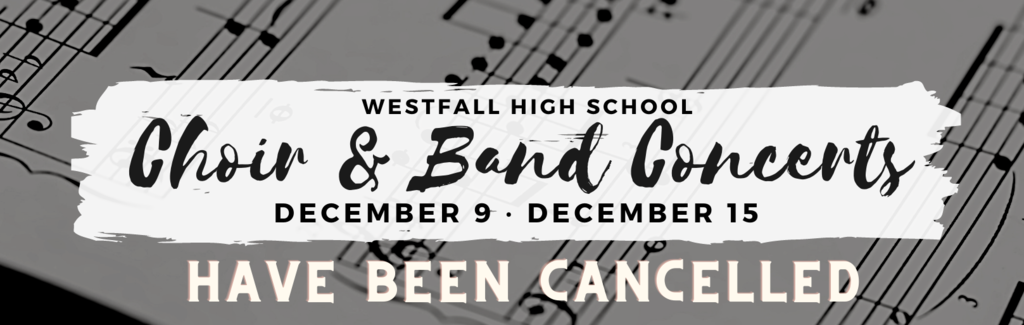 Band & Choir Concert Update