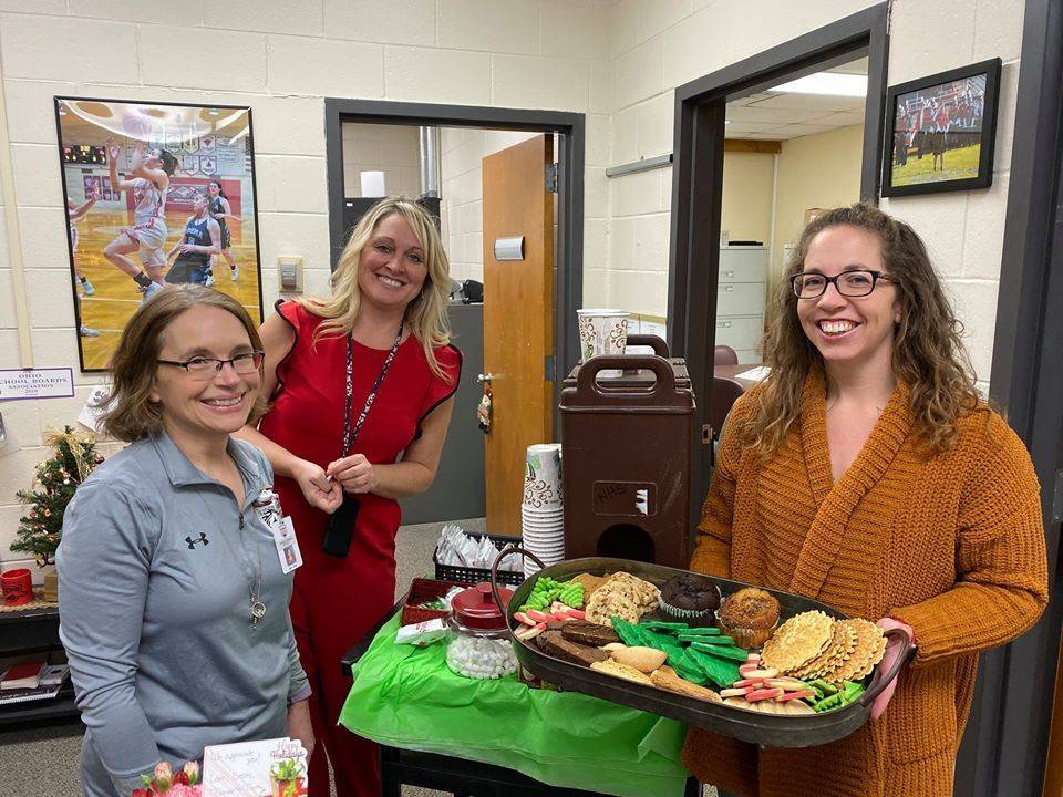 Westfall Local Schools staff bringing sweet treats